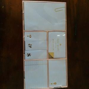 Kate Spade Stike Gold sticky note set